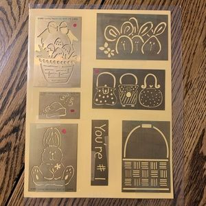 7 Brass Embossing templates by lasting impressions